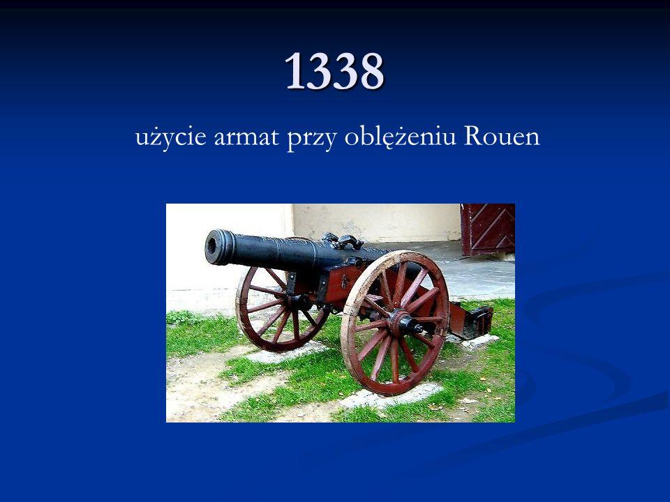 użycie armat przy oblężeniu Rouen
