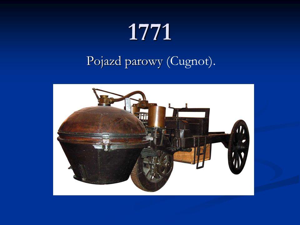 Pojazd parowy (Cugnot).