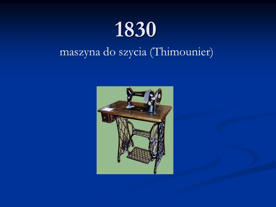 maszyna do szycia (Thimounier)