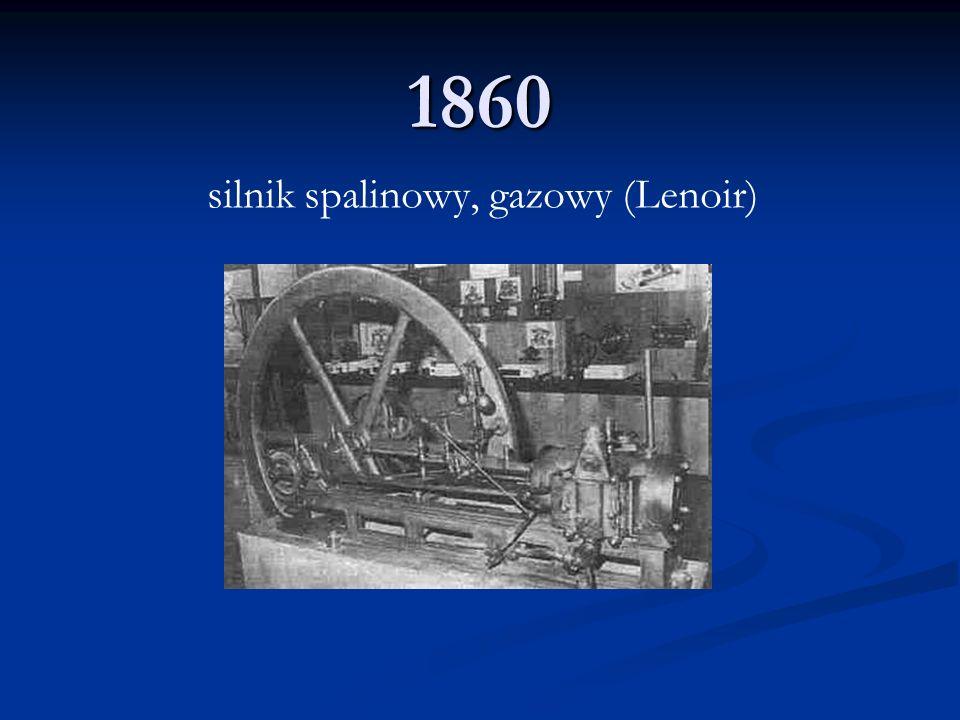 silnik spalinowy, gazowy (Lenoir)