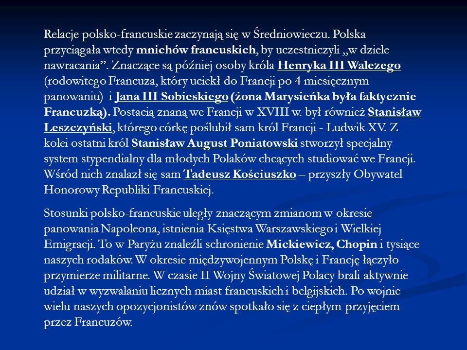 Relacje polsko-francuskie zaczynają się w Średniowieczu
