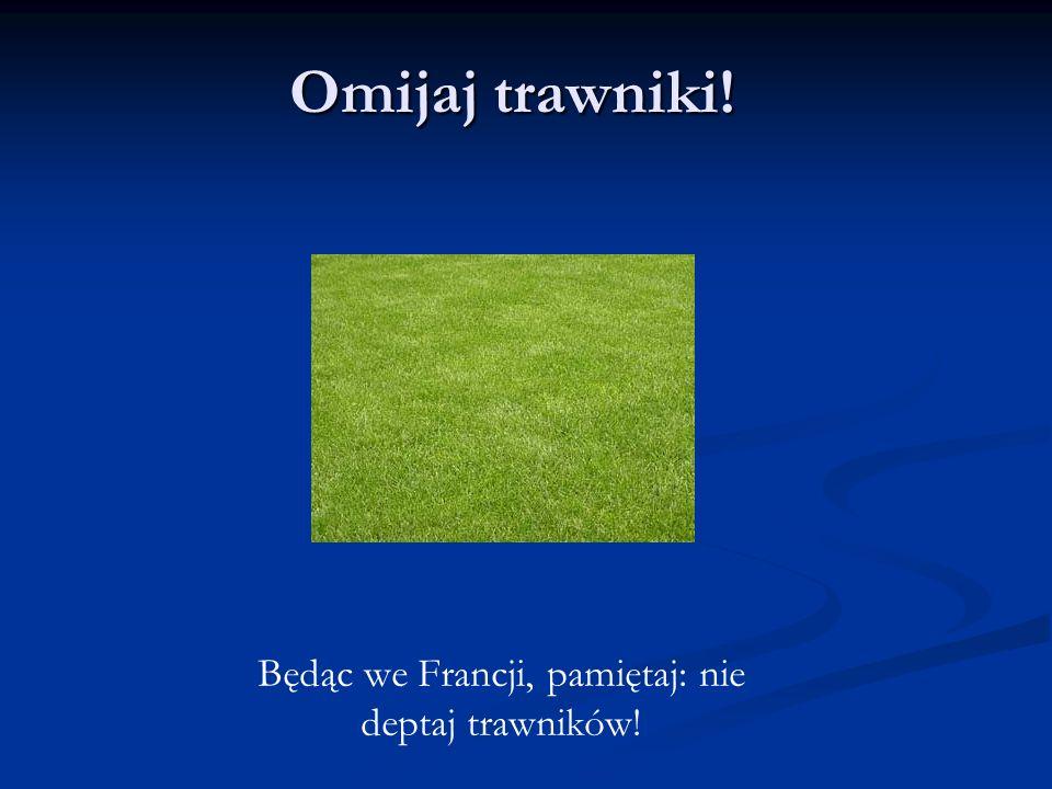 Będąc we Francji, pamiętaj: nie deptaj trawników!