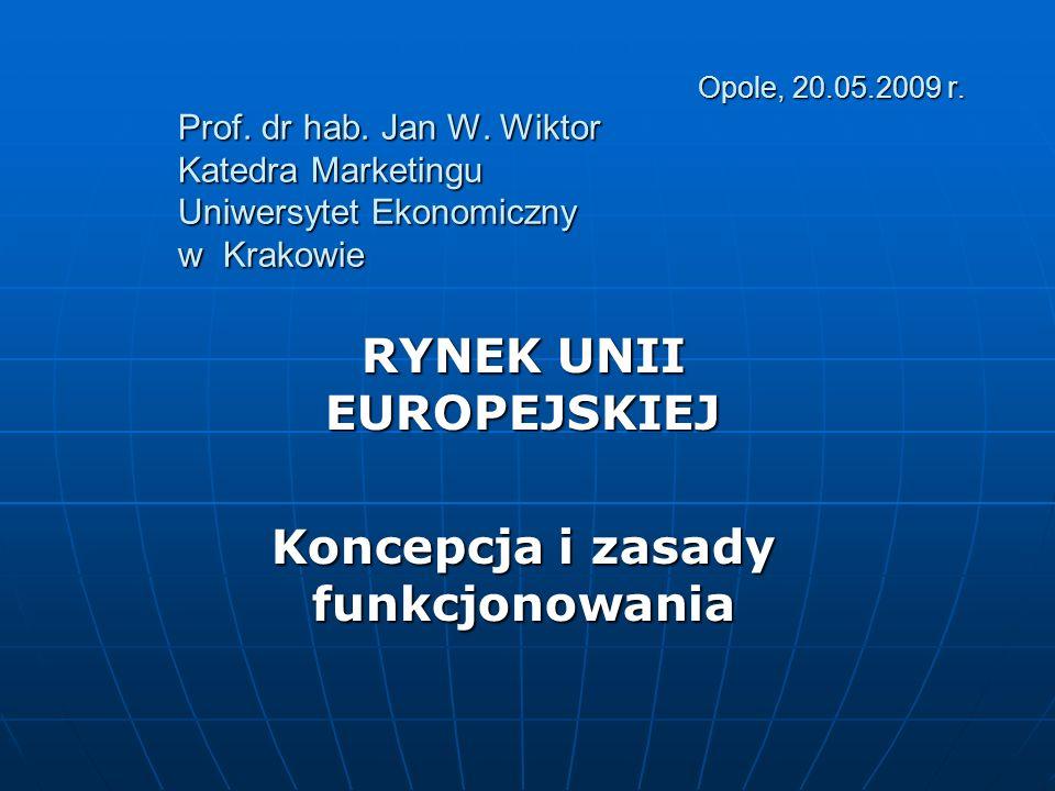 RYNEK UNII EUROPEJSKIEJ Koncepcja i zasady funkcjonowania