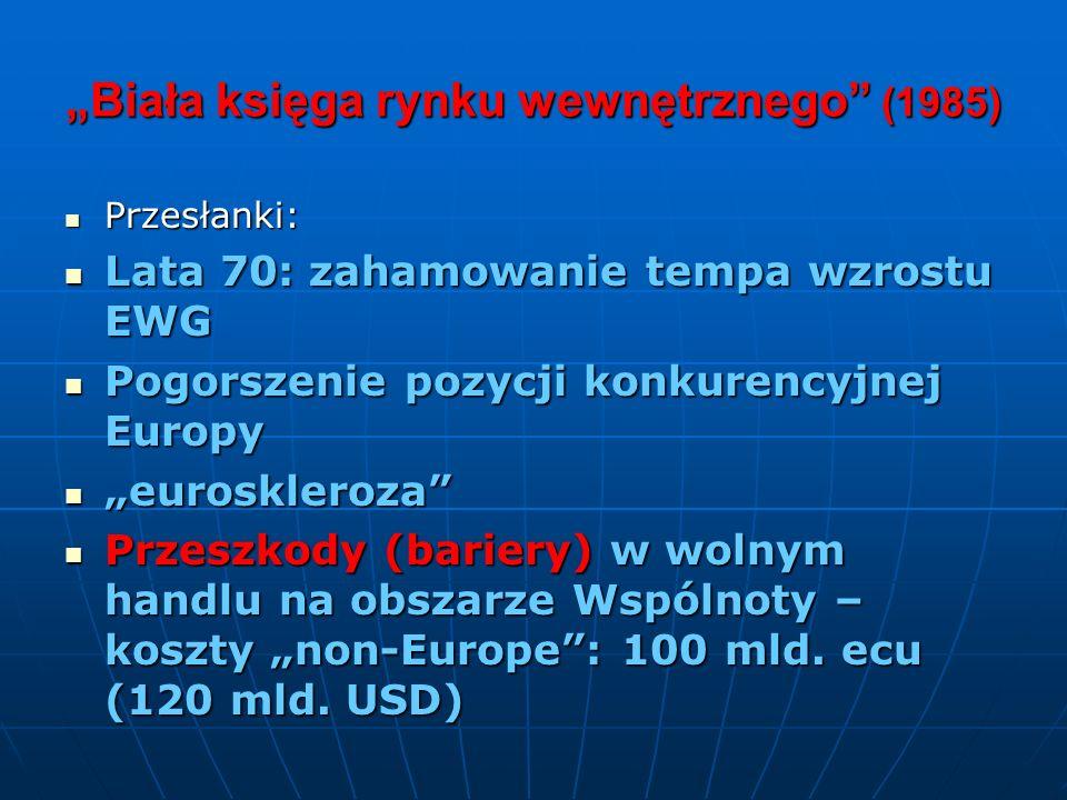 """""""Biała księga rynku wewnętrznego (1985)"""