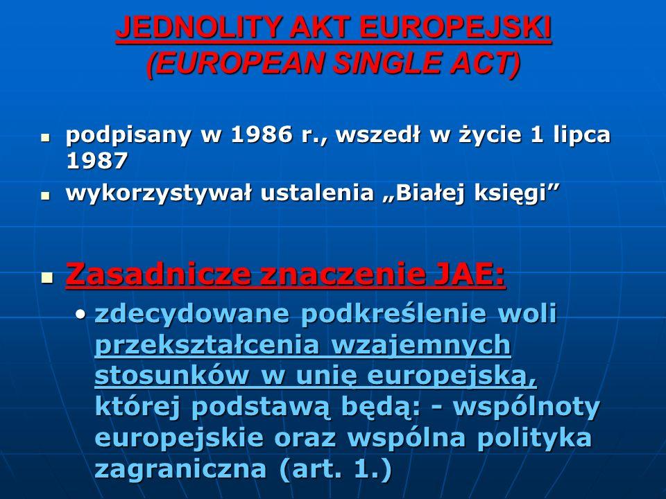 JEDNOLITY AKT EUROPEJSKI (EUROPEAN SINGLE ACT)