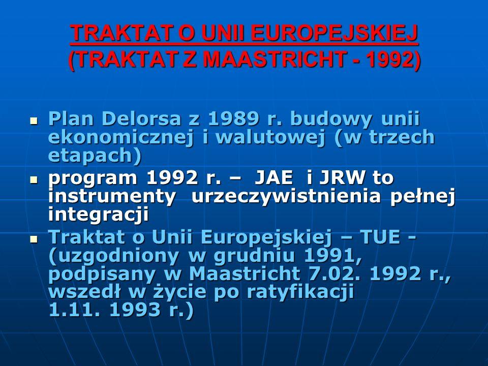 TRAKTAT O UNII EUROPEJSKIEJ (TRAKTAT Z MAASTRICHT - 1992)