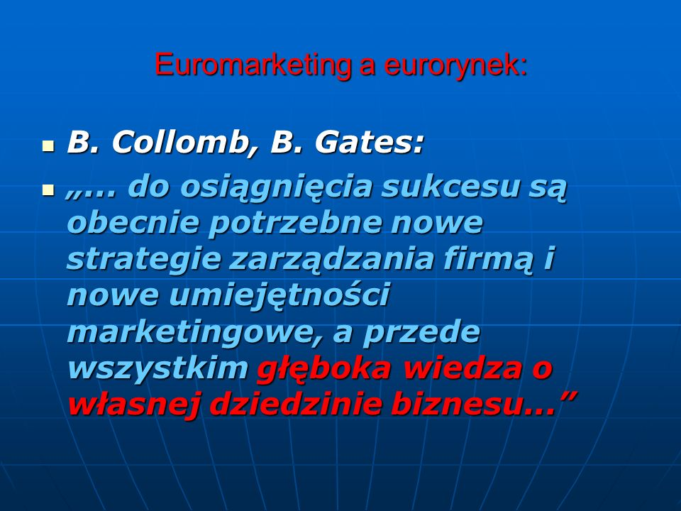 Euromarketing a eurorynek: