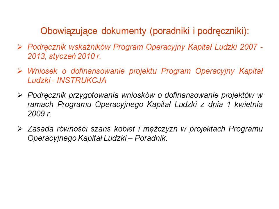 Obowiązujące dokumenty (poradniki i podręczniki):