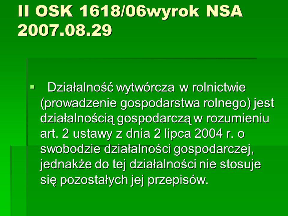 II OSK 1618/06wyrok NSA 2007.08.29