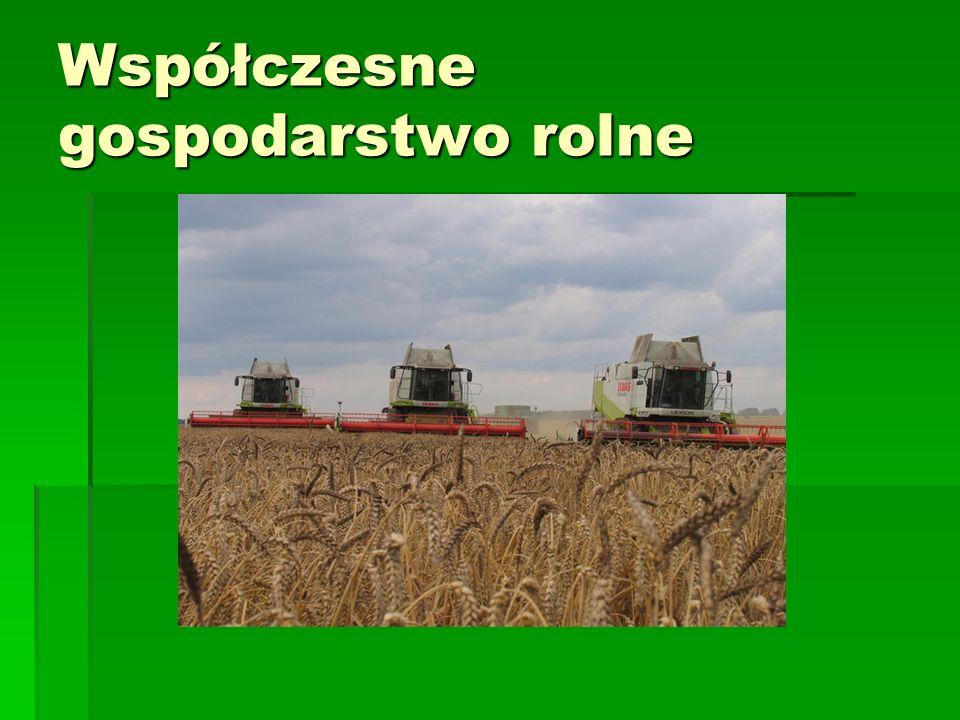 Współczesne gospodarstwo rolne