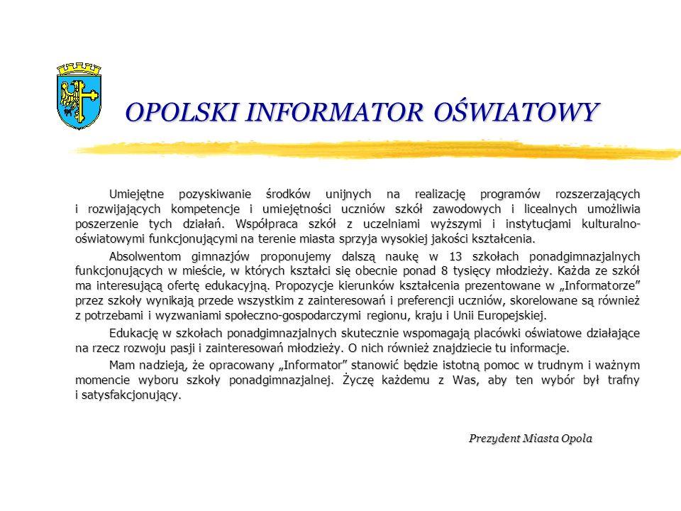 OPOLSKI INFORMATOR OŚWIATOWY