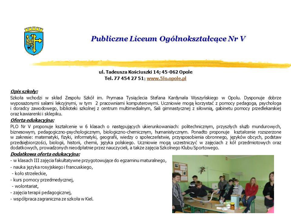 Publiczne Liceum Ogólnokształcące Nr V