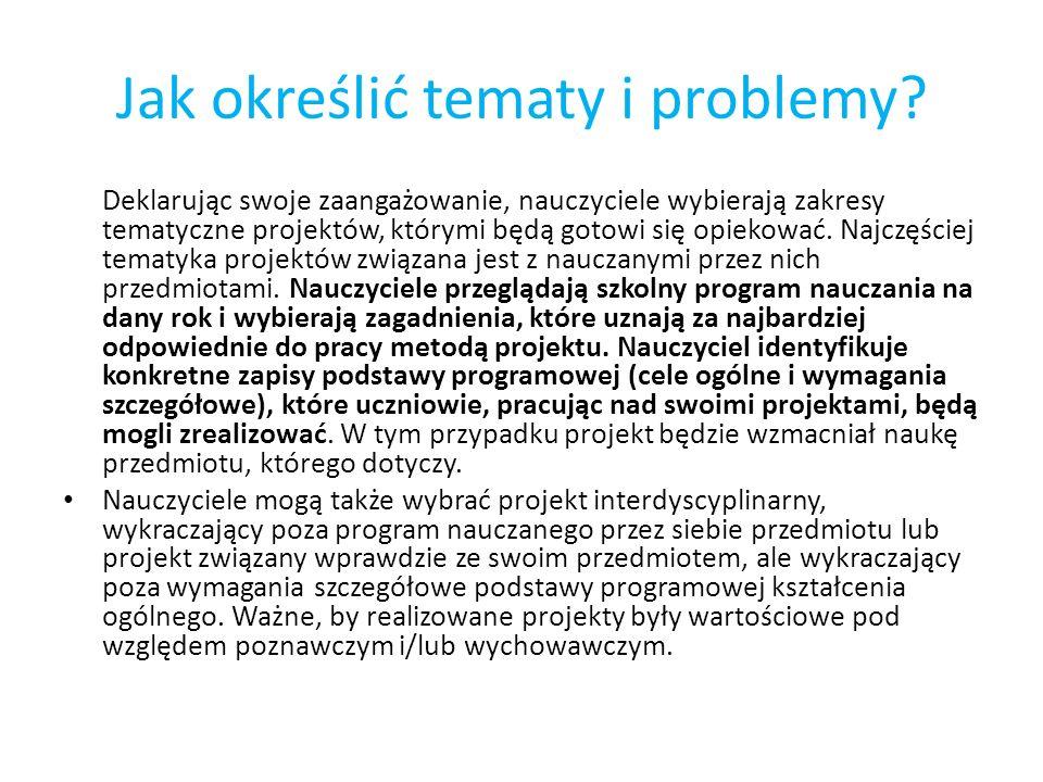 Jak określić tematy i problemy
