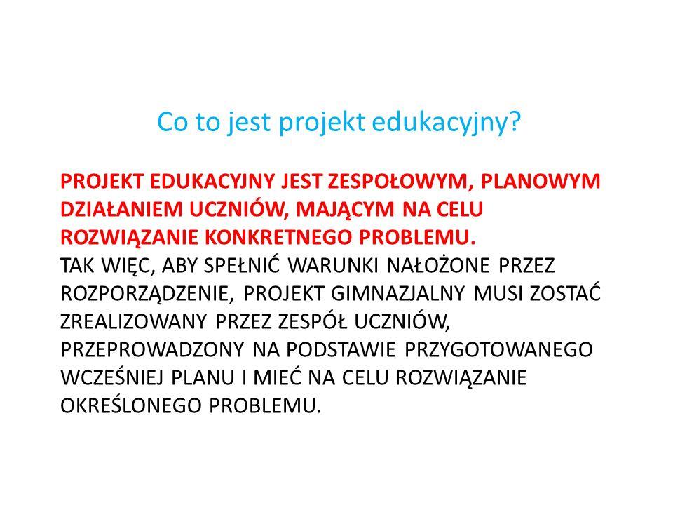 Co to jest projekt edukacyjny