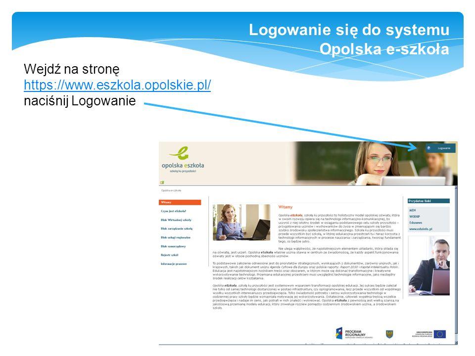 Logowanie się do systemu Opolska e-szkoła