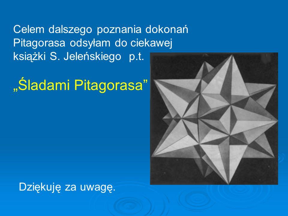 Celem dalszego poznania dokonań Pitagorasa odsyłam do ciekawej