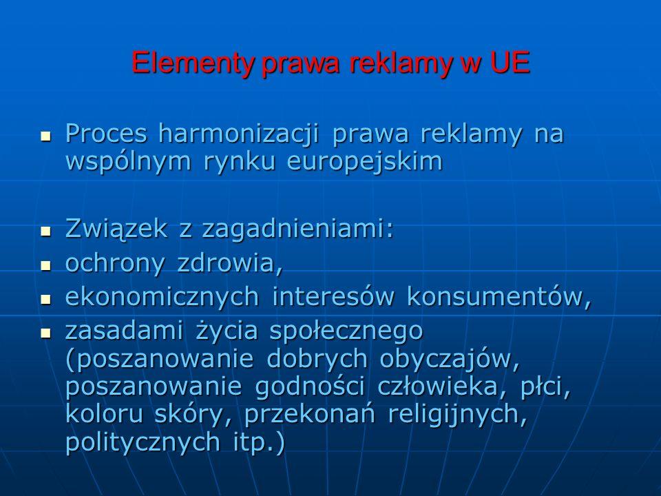 Elementy prawa reklamy w UE