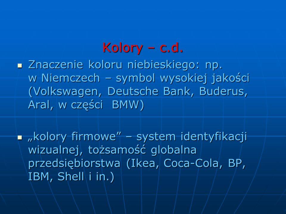 Kolory – c.d.