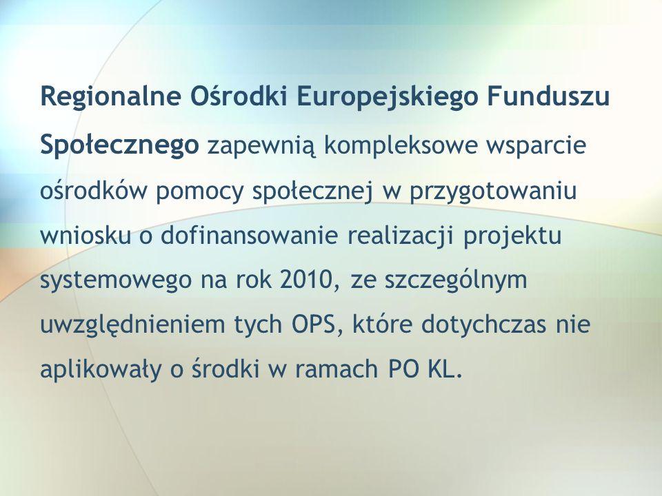 Regionalne Ośrodki Europejskiego Funduszu