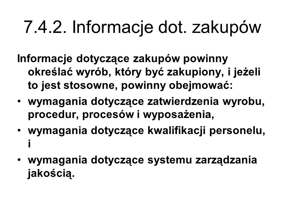 7.4.2. Informacje dot. zakupów
