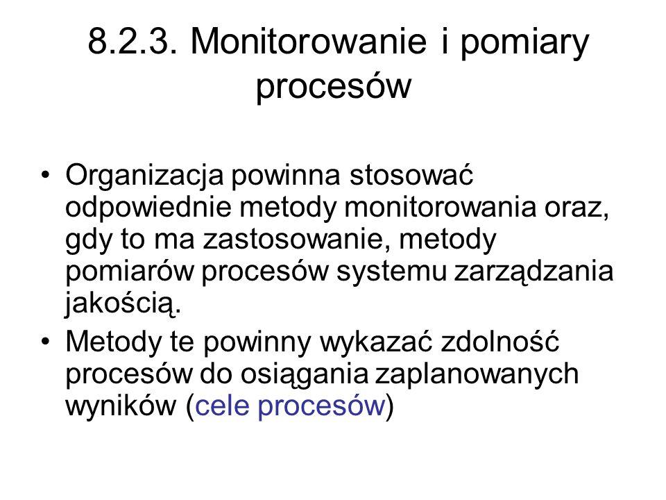 8.2.3. Monitorowanie i pomiary procesów