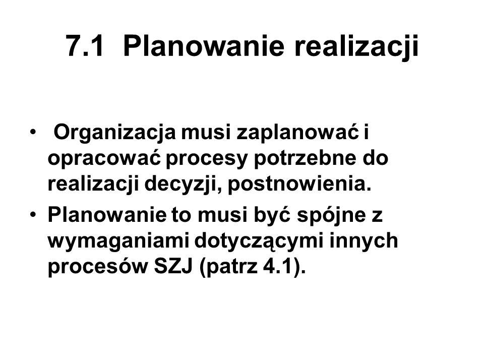 7.1 Planowanie realizacji