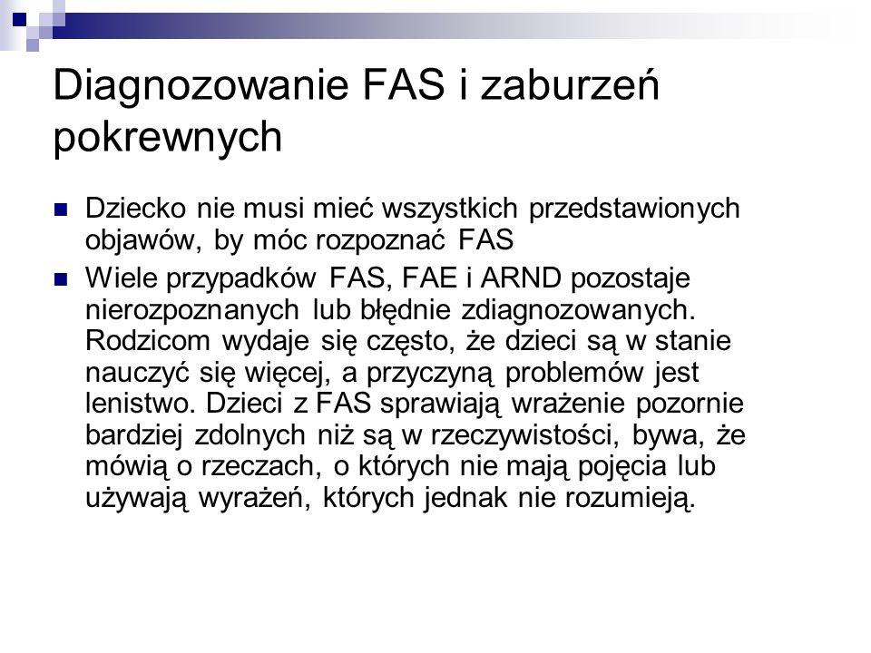 Diagnozowanie FAS i zaburzeń pokrewnych