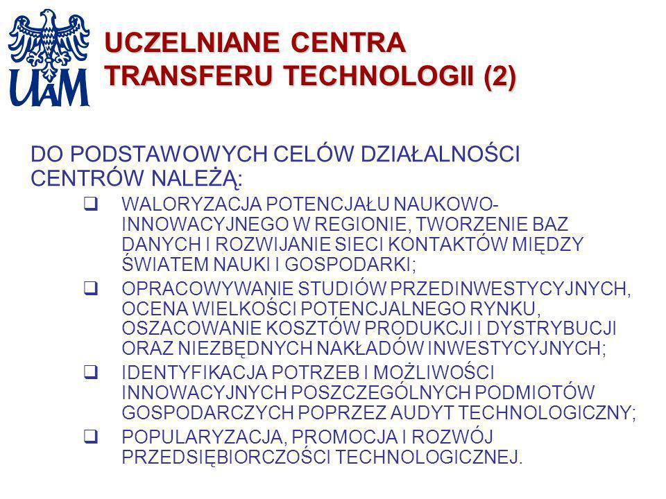 UCZELNIANE CENTRA TRANSFERU TECHNOLOGII (2)