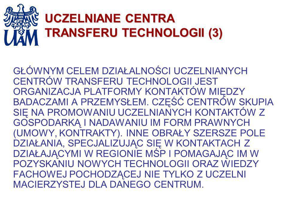 UCZELNIANE CENTRA TRANSFERU TECHNOLOGII (3)
