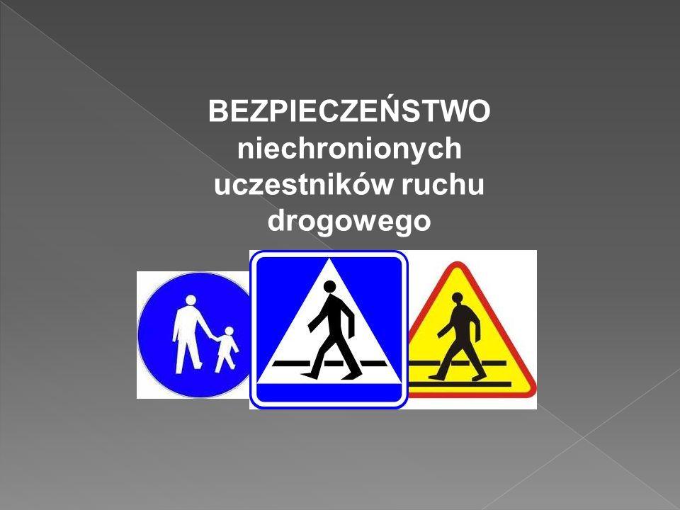 BEZPIECZEŃSTWO niechronionych uczestników ruchu drogowego