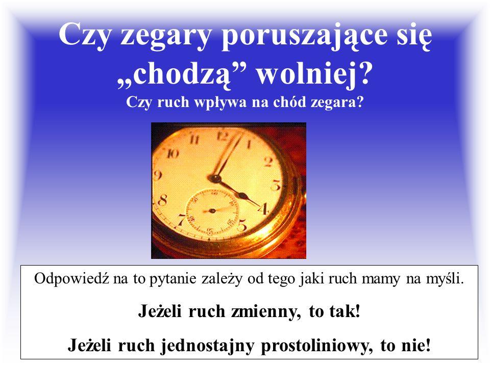 """Czy zegary poruszające się """"chodzą wolniej"""