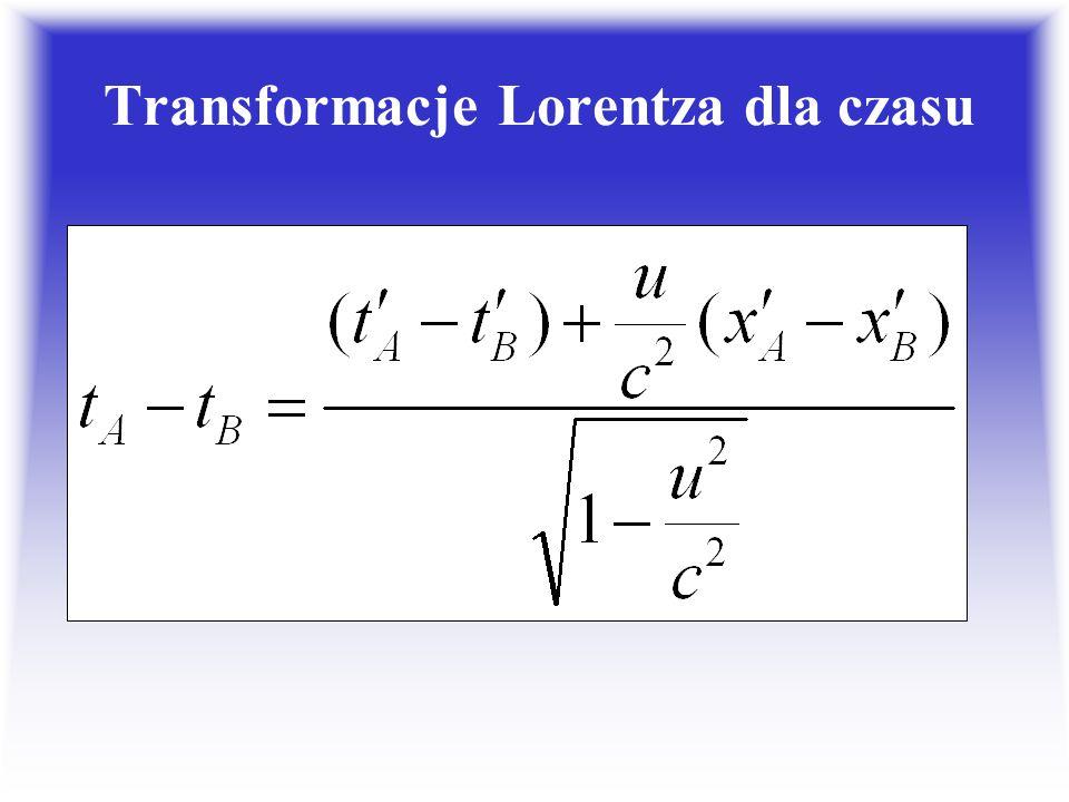 Transformacje Lorentza dla czasu
