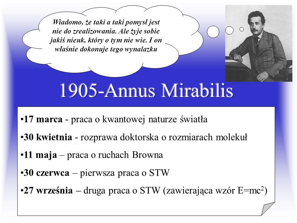 1905-Annus Mirabilis 17 marca - praca o kwantowej naturze światła