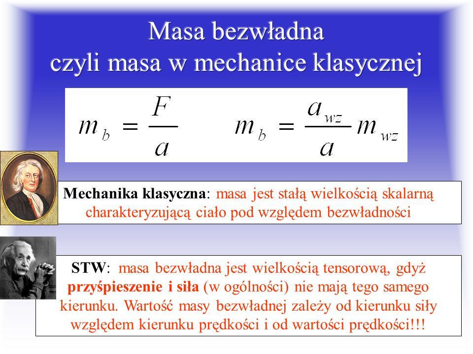 Masa bezwładna czyli masa w mechanice klasycznej