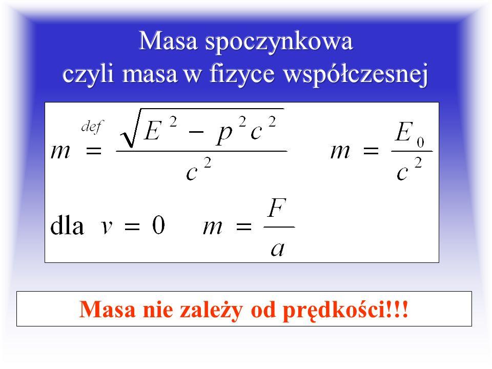 Masa spoczynkowa czyli masa w fizyce współczesnej
