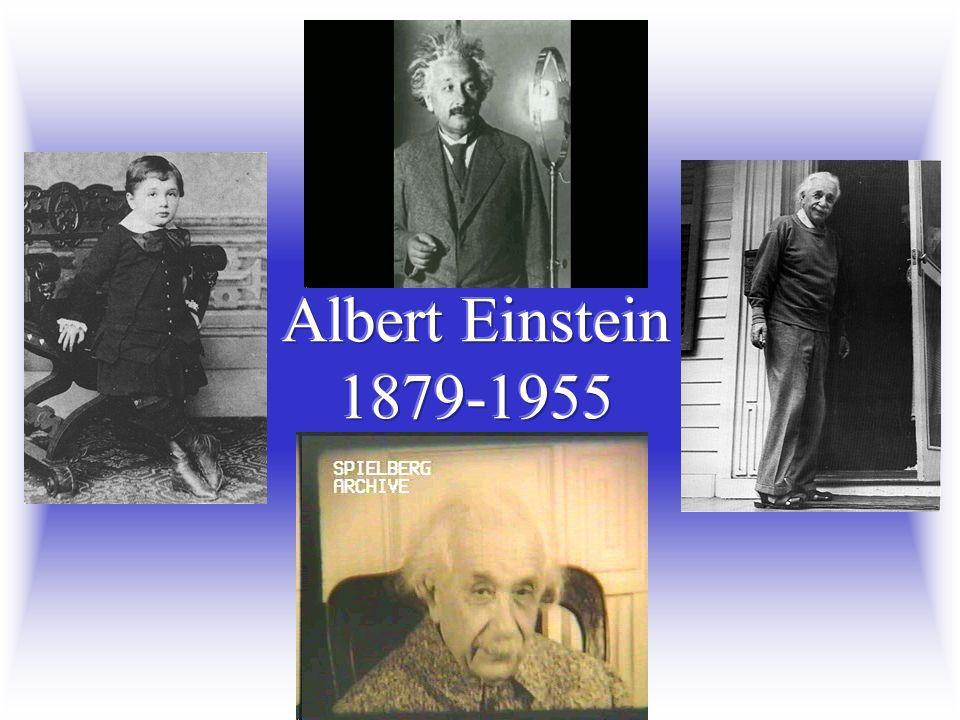 Albert Einstein 1879-1955 W 2005 roku przypada również 50-ta rocznica śmierci Alberta Einsteina.