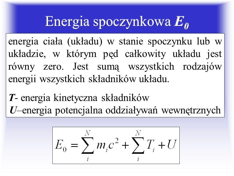 U–energia potencjalna oddziaływań wewnętrznych