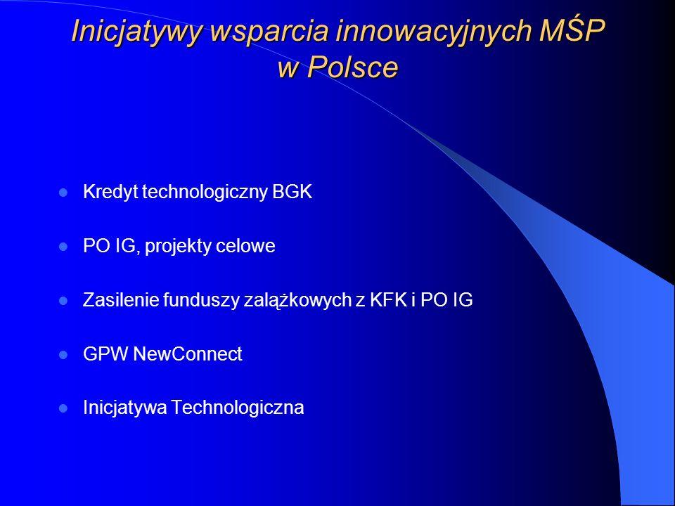 Inicjatywy wsparcia innowacyjnych MŚP w Polsce