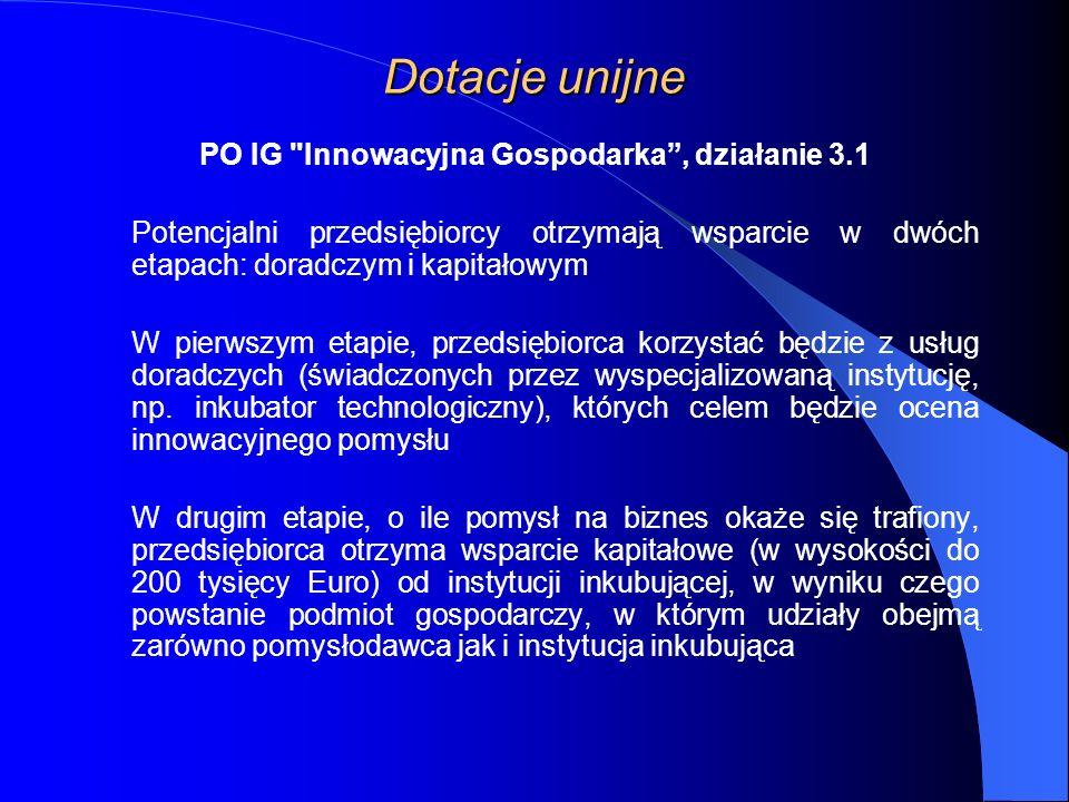 PO IG Innowacyjna Gospodarka , działanie 3.1