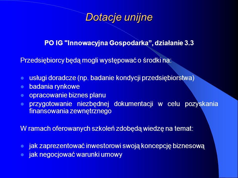 PO IG Innowacyjna Gospodarka , działanie 3.3