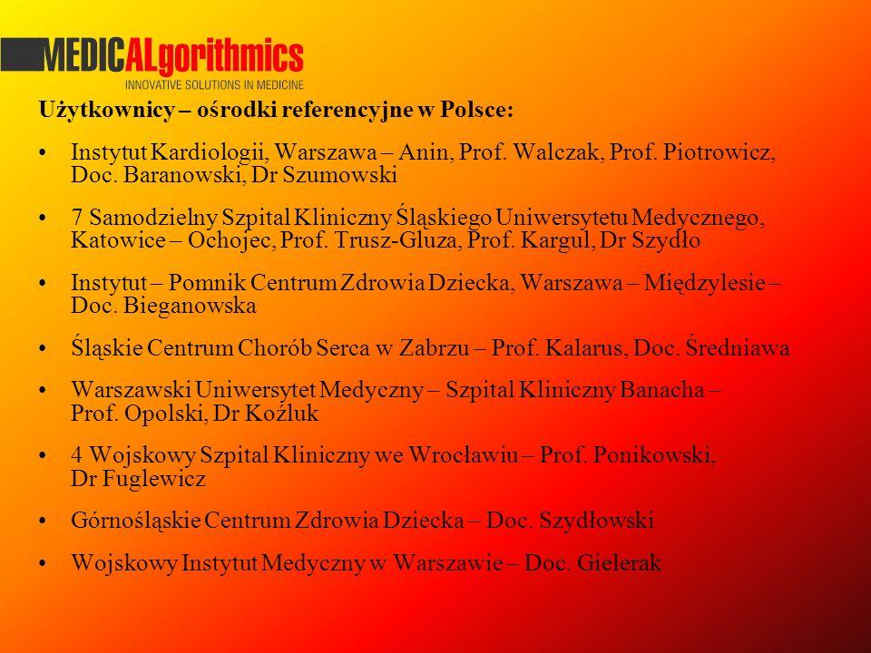 Użytkownicy – ośrodki referencyjne w Polsce: