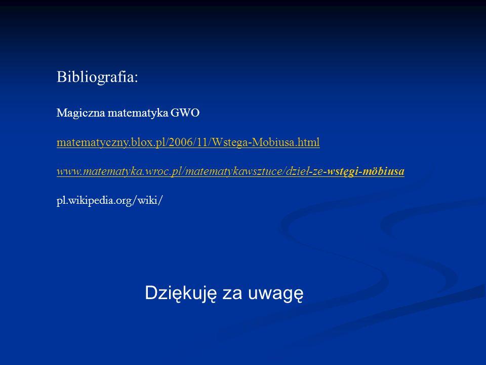 Dziękuję za uwagę Bibliografia: Magiczna matematyka GWO