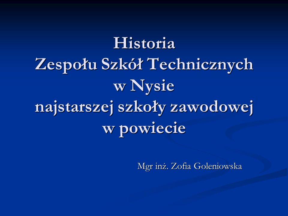 Mgr inż. Zofia Goleniowska