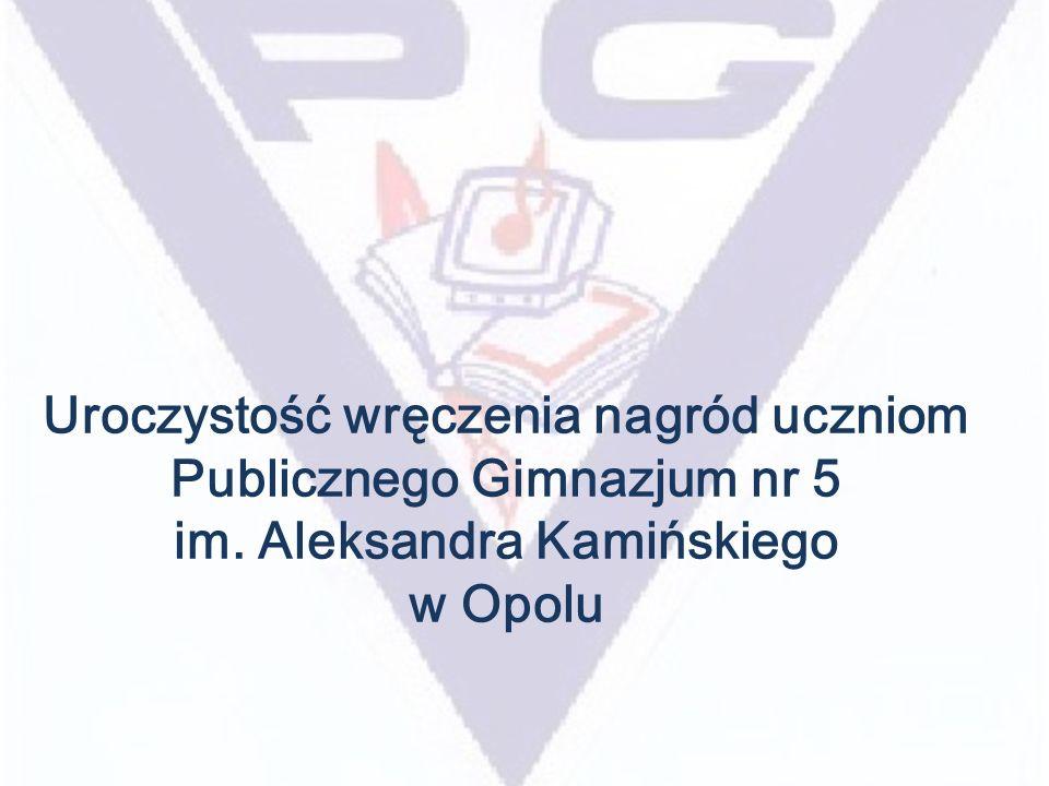 Uroczystość wręczenia nagród uczniom Publicznego Gimnazjum nr 5 im