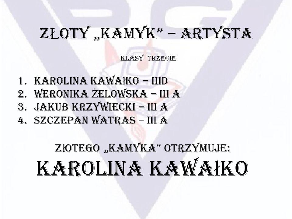 """ZŁOTY """"KAMYK – ARTYSTA"""