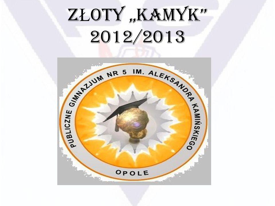 """ZŁOTY """"KAMYK 2012/2013"""