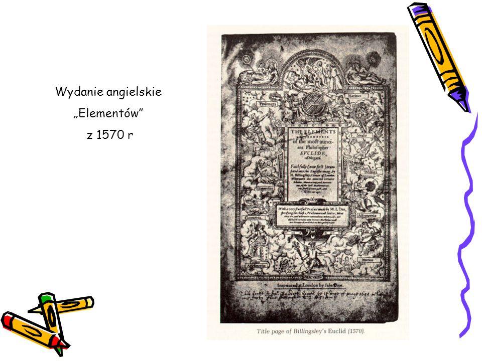 """Wydanie angielskie """"Elementów z 1570 r"""