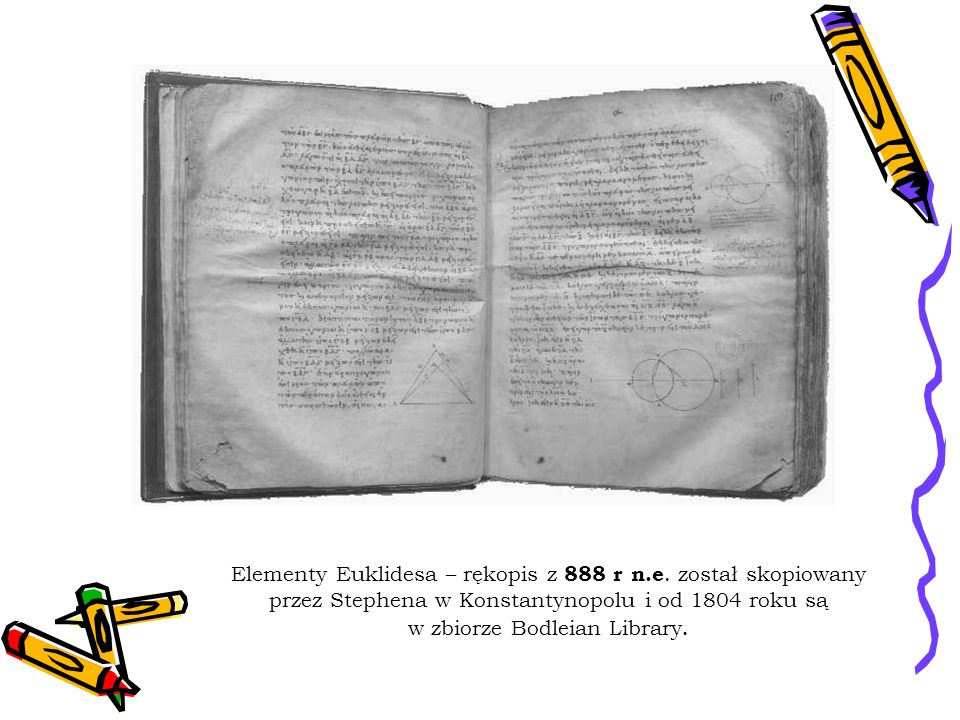 Elementy Euklidesa – rękopis z 888 r n. e