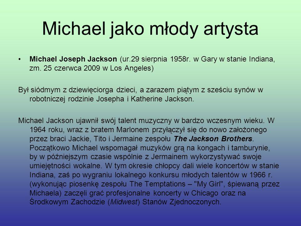 Michael jako młody artysta