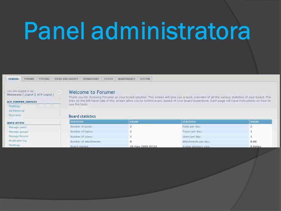Panel administratora